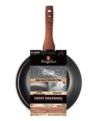 2 GRANITINIŲ KEPTUVIŲ RINKINYS BERLINGER HAUS EBONY ROSEWOOD BH-1726